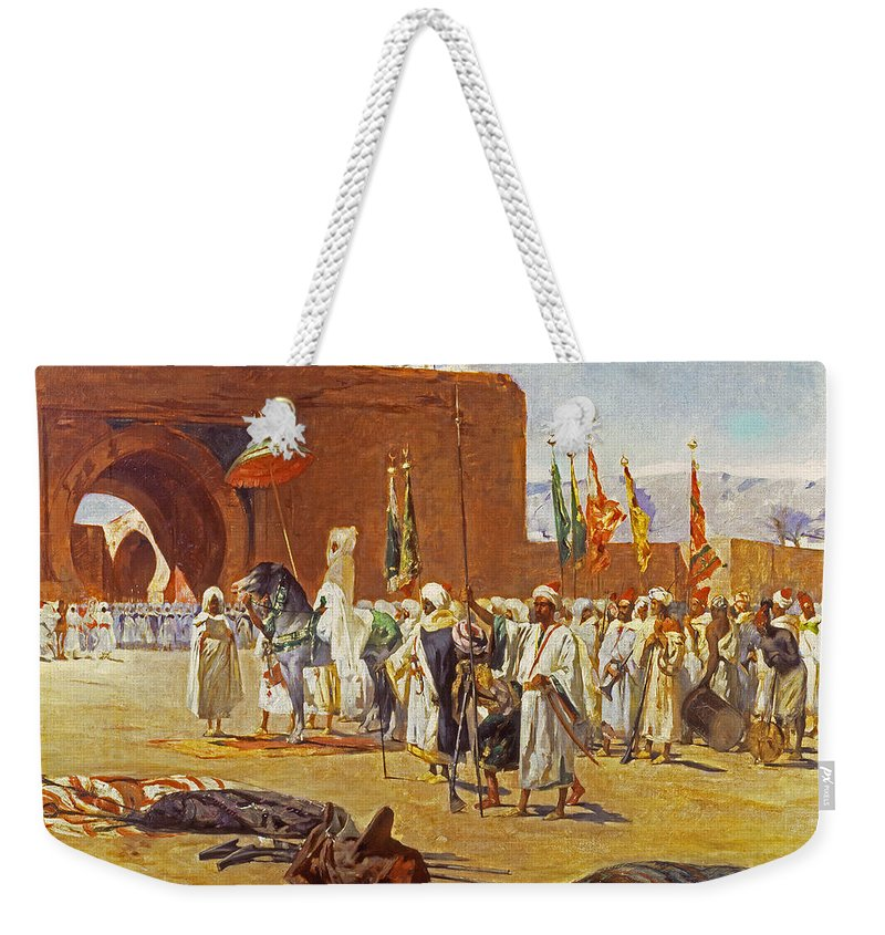 Constant Weekender Tote Bag featuring the painting Moorish Procession by Jean Joseph Benjamin Constant