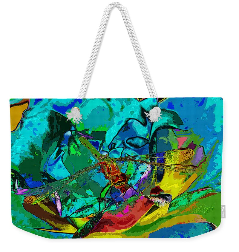 Dragonflies Weekender Tote Bag featuring the photograph More Dragonfly Art by Ben Upham III