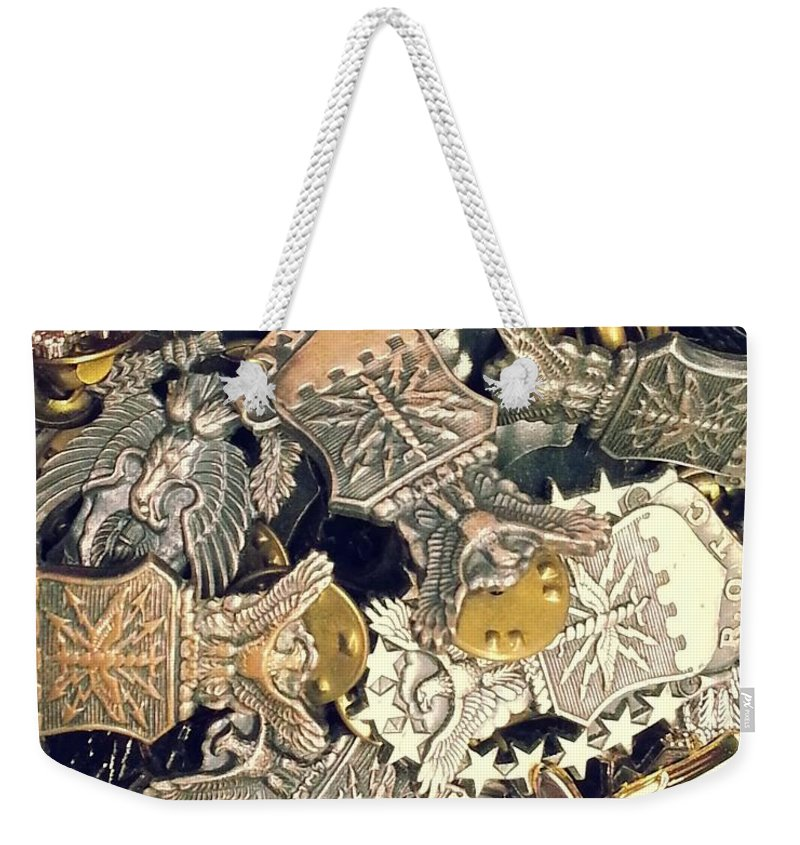 Rotc Weekender Tote Bag featuring the photograph More Than Just Pot Metal 2 by Caryl J Bohn