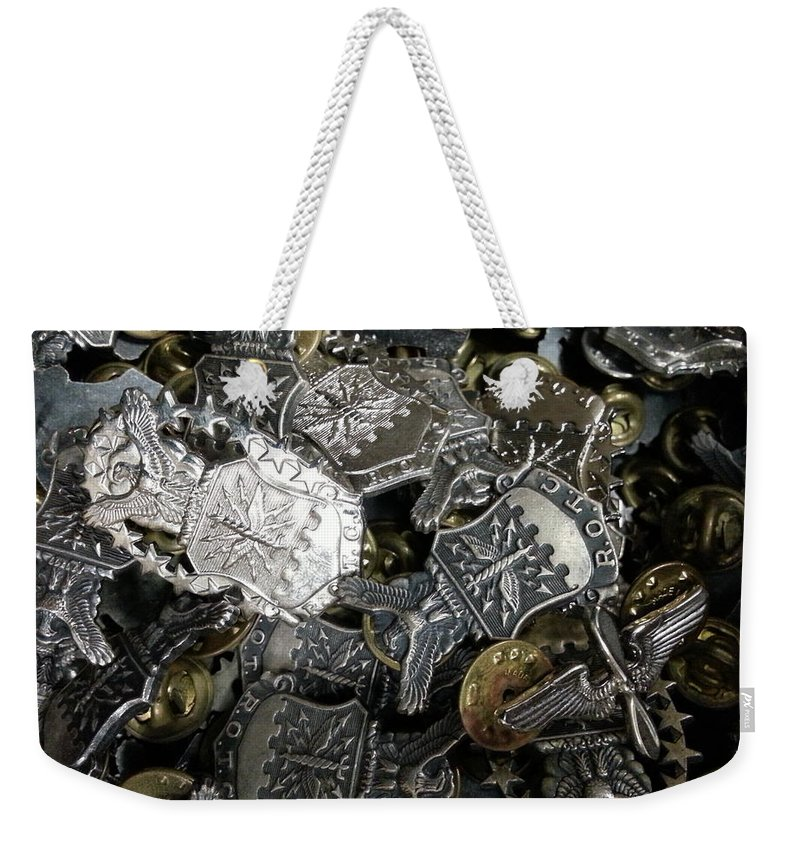 Rotc Weekender Tote Bag featuring the photograph More Than Just Pot Metal by Caryl J Bohn