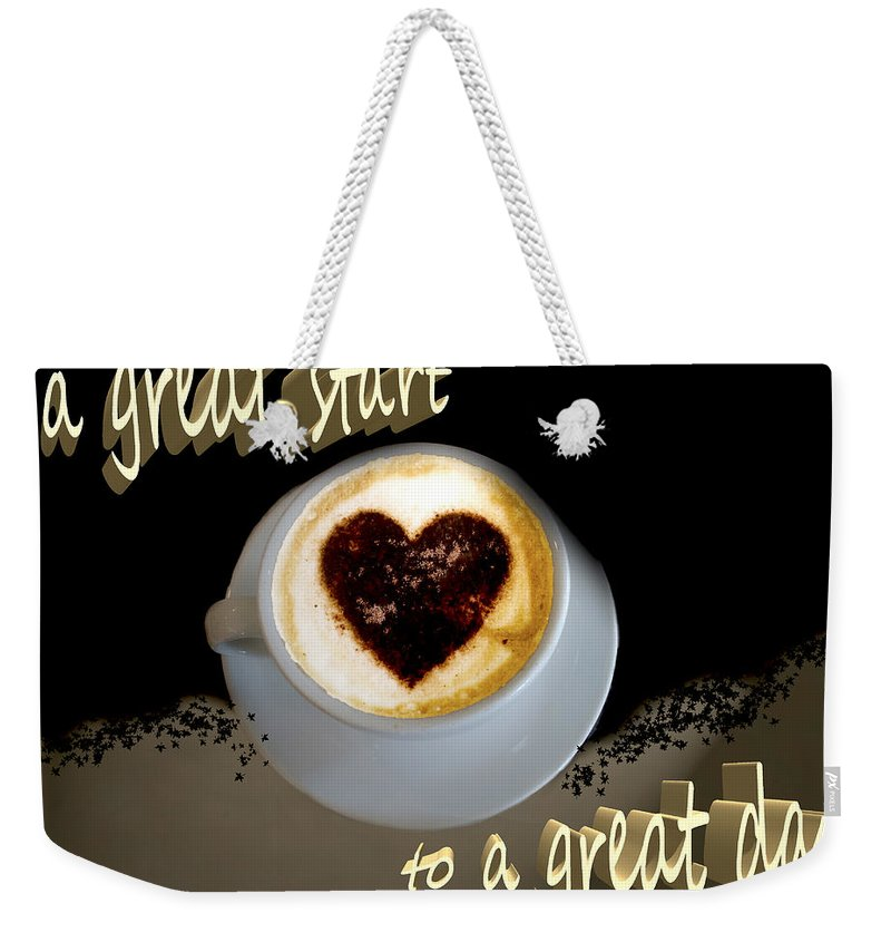 Coffee Weekender Tote Bag featuring the photograph Mornin' World by Pennie McCracken
