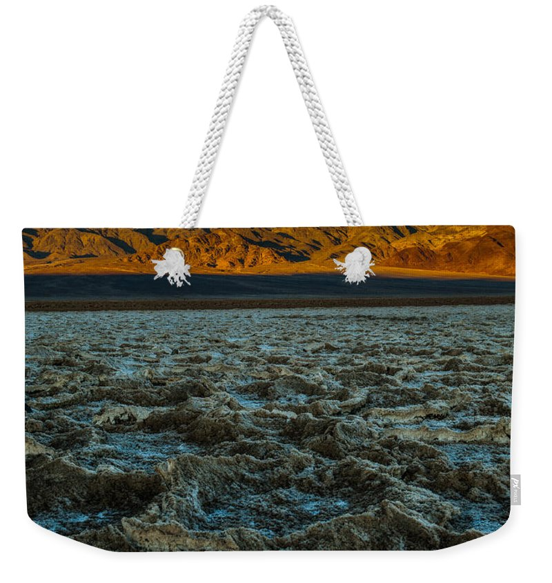 Morning At Badwater Weekender Tote Bag featuring the photograph Morning At Badwater by George Buxbaum