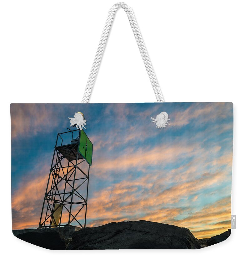 New Jersey Weekender Tote Bag featuring the photograph Morning Beauty by Kristopher Schoenleber