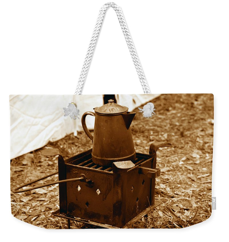 Coffee Weekender Tote Bag featuring the photograph Morning Brew by David Lee Thompson