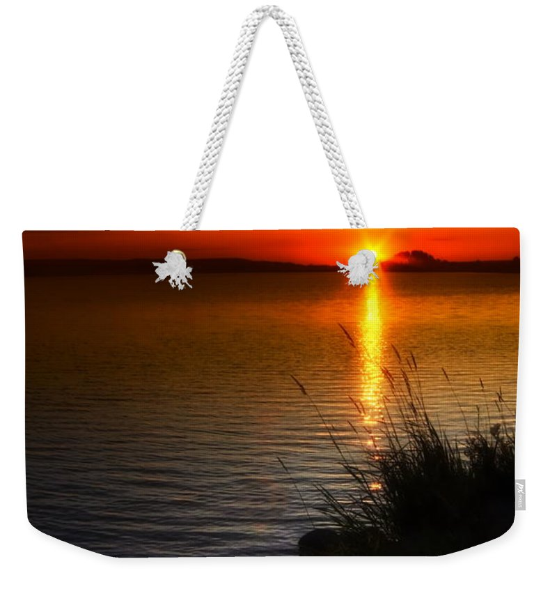 Art Weekender Tote Bag featuring the photograph Morning By The Shore by Veikko Suikkanen