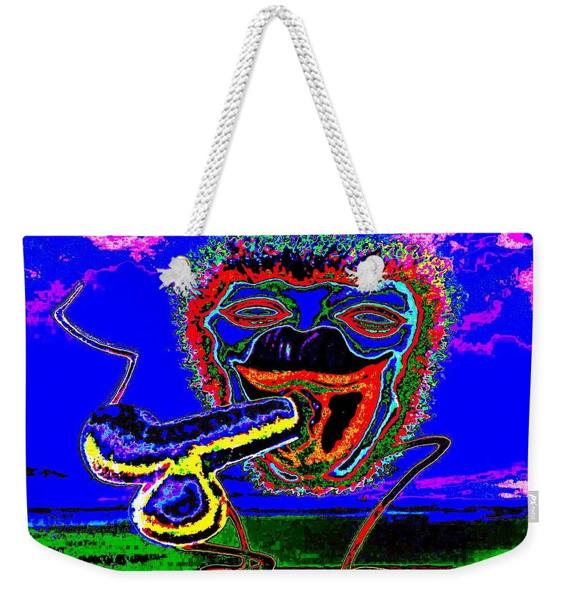 Genio Weekender Tote Bag featuring the mixed media Morning Contentment by Genio GgXpress