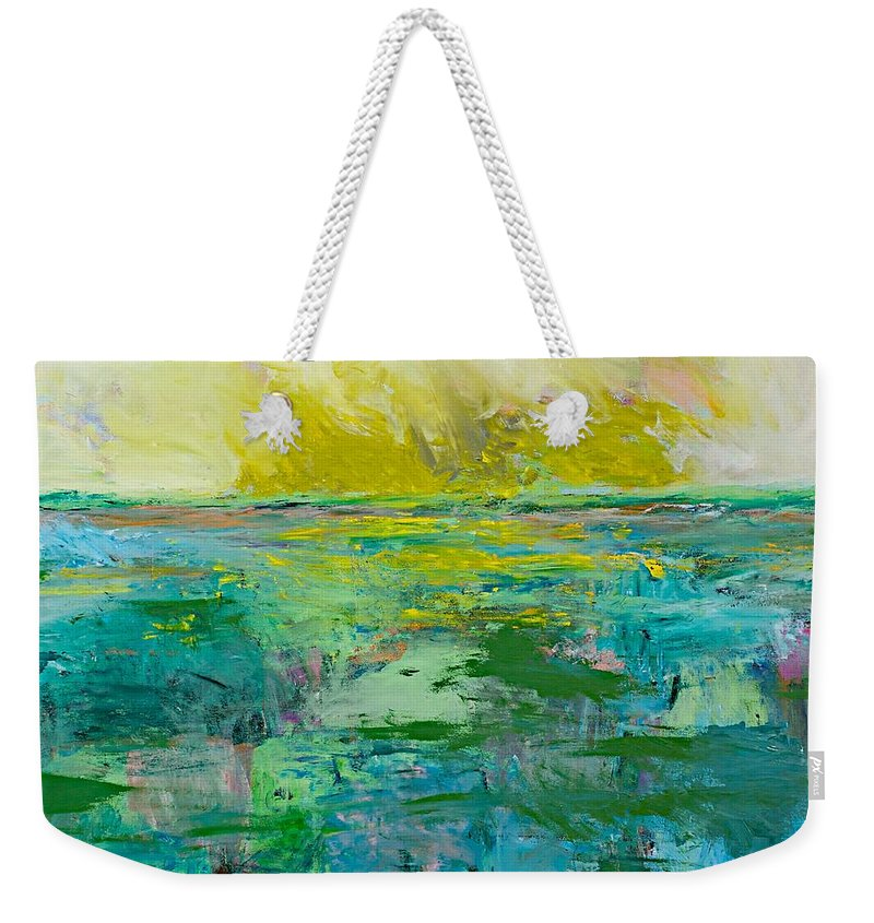 Decor Weekender Tote Bag featuring the painting Morning Dew by Allan P Friedlander