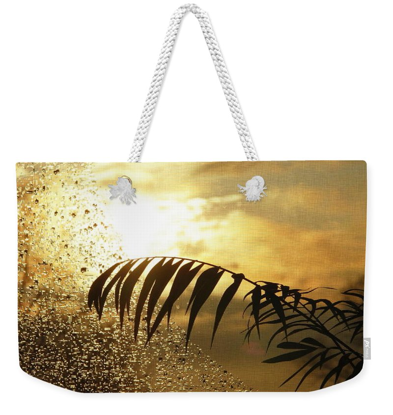 Morning Weekender Tote Bag featuring the photograph Morning Dew Screen by Joyce Dickens