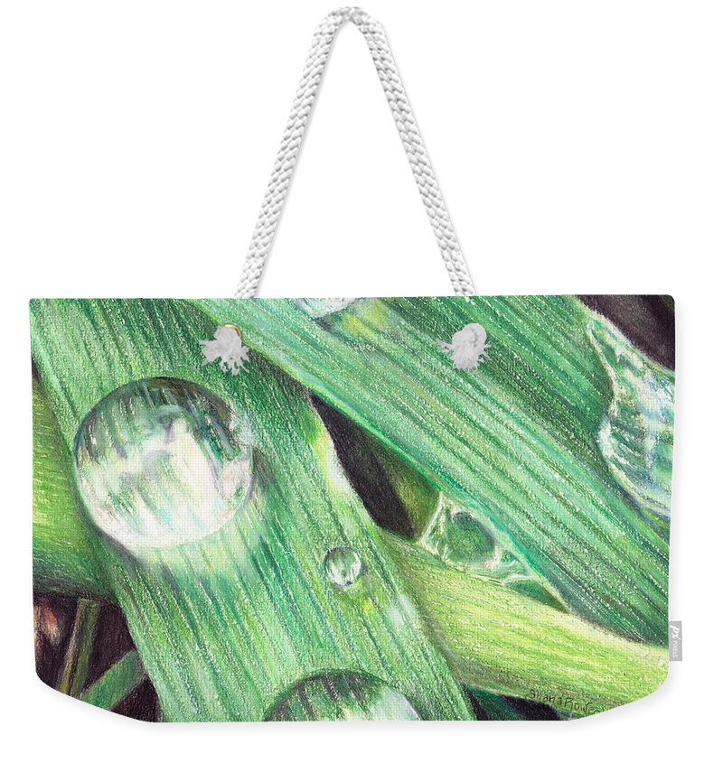 Dew Weekender Tote Bag featuring the painting Morning Dew by Shana Rowe Jackson