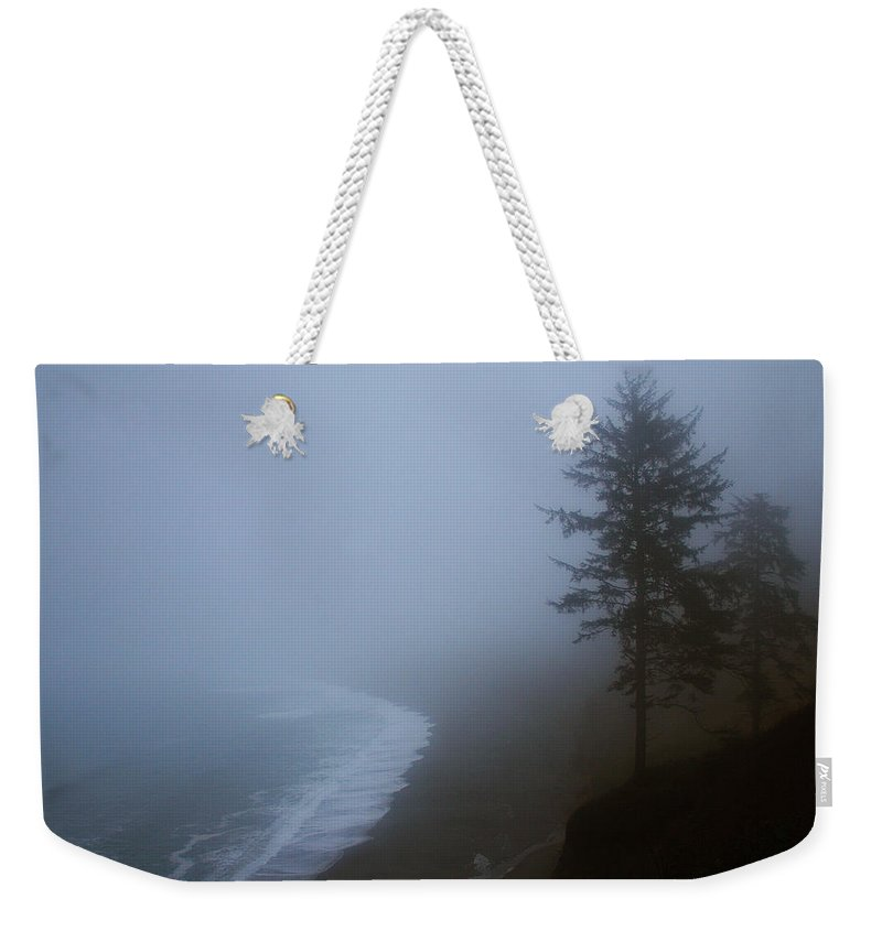 Beach Weekender Tote Bag featuring the photograph Morning Fog At Agate Beach by Robert Woodward