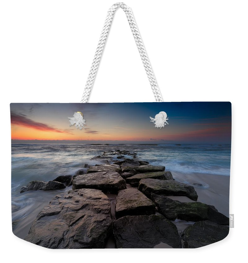 Ocean Weekender Tote Bag featuring the photograph Morning Glow by Rick Berk