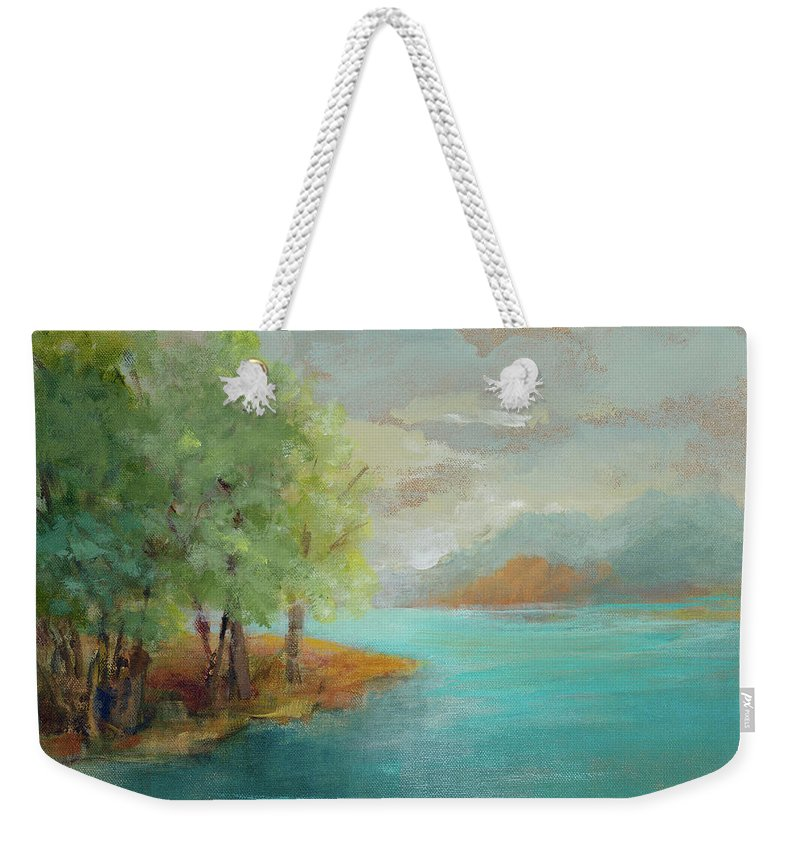 Morning Weekender Tote Bag featuring the painting Morning Islands by Lanie Loreth