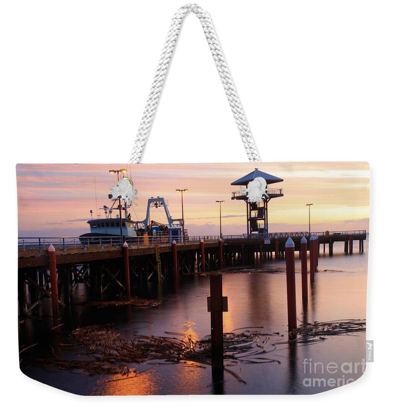 Port Angles Weekender Tote Bag featuring the photograph Morning Light At Port Angeles by Adam Jewell