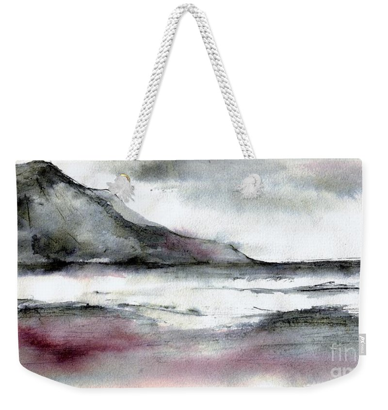 Light Weekender Tote Bag featuring the drawing Morning Light by Karina Plachetka