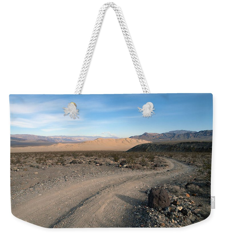 Death Valley Weekender Tote Bag featuring the photograph Morning On Steele Pass by Joe Schofield