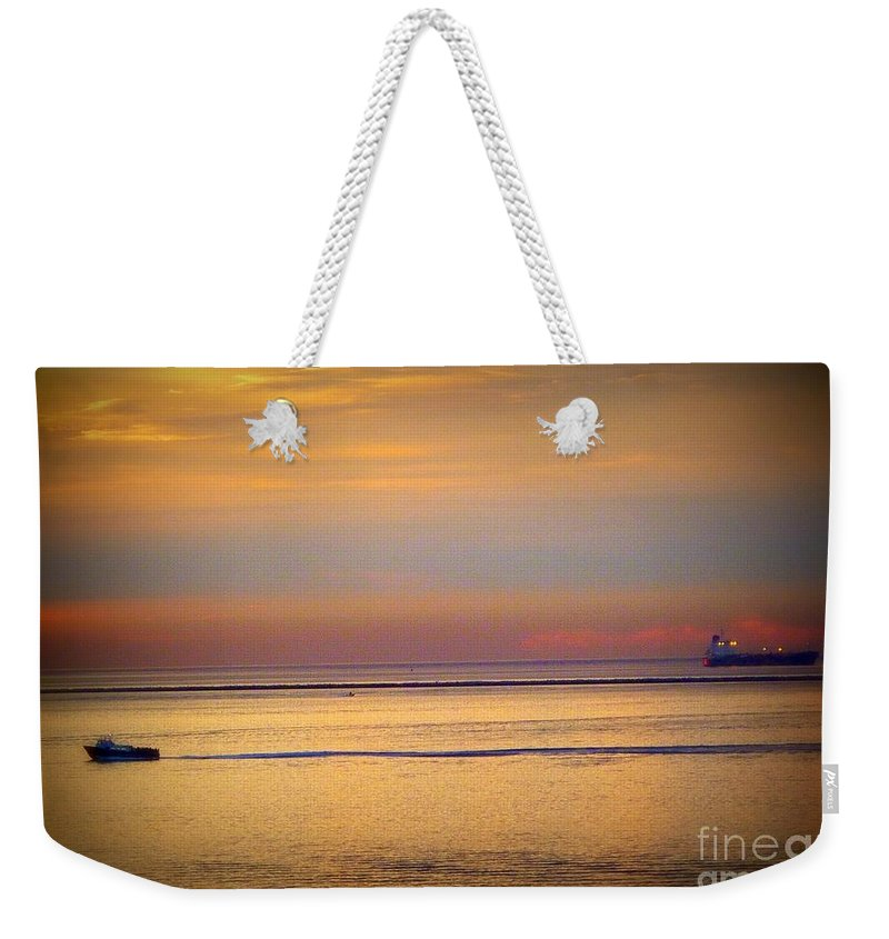 Sunrise Weekender Tote Bag featuring the photograph Morning Pass by Susan Garren