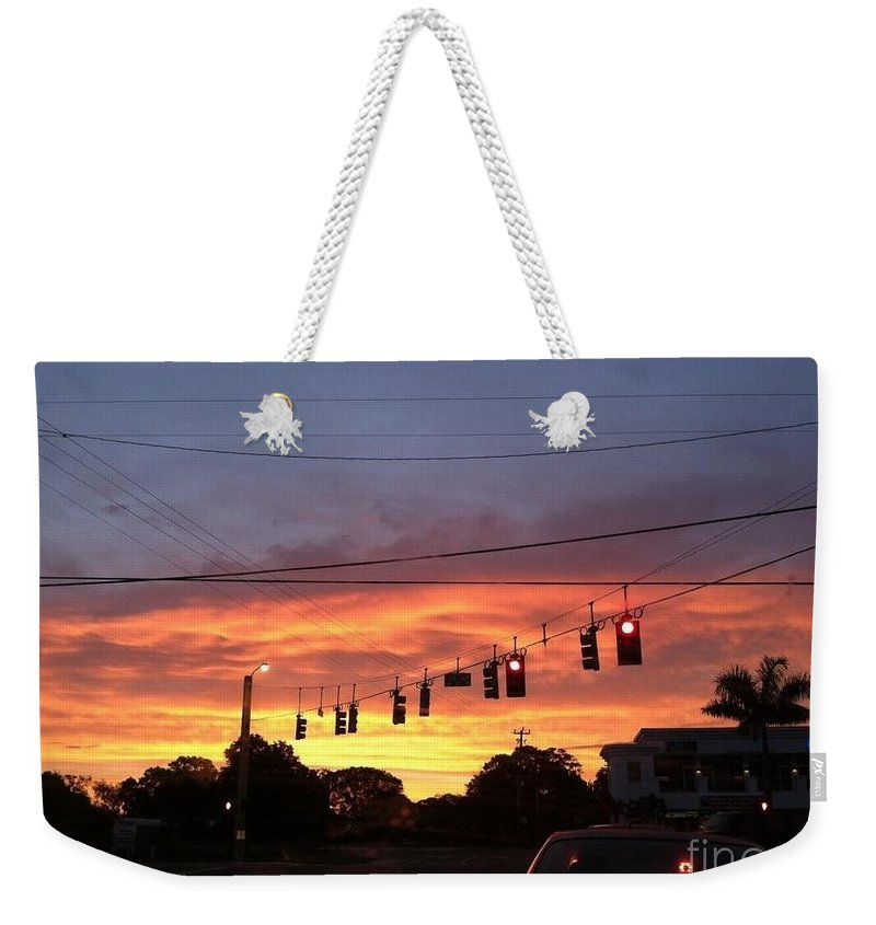 Paradise Weekender Tote Bag featuring the photograph Morning Peace by Melissa Darnell Glowacki