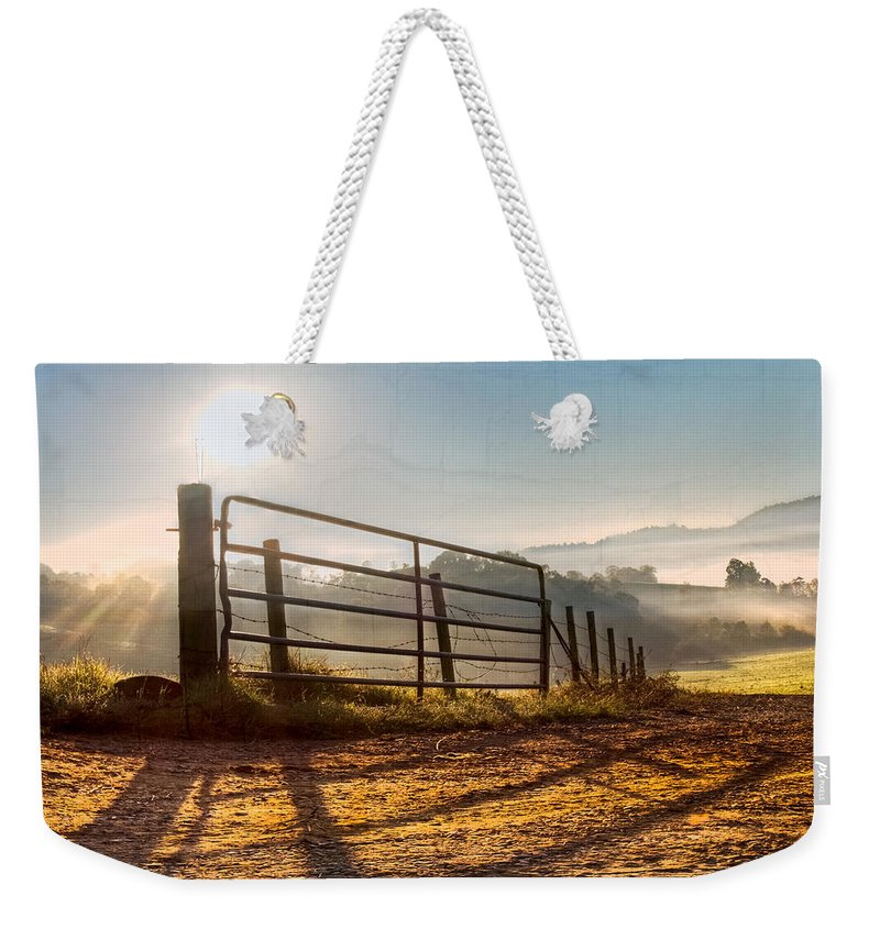 Appalachia Weekender Tote Bag featuring the photograph Morning Shadows by Debra and Dave Vanderlaan