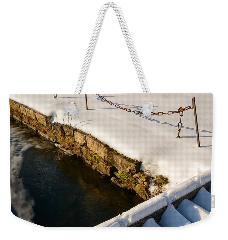 Waterloo Weekender Tote Bag featuring the photograph Morning Snow by Mark Robert Rogers