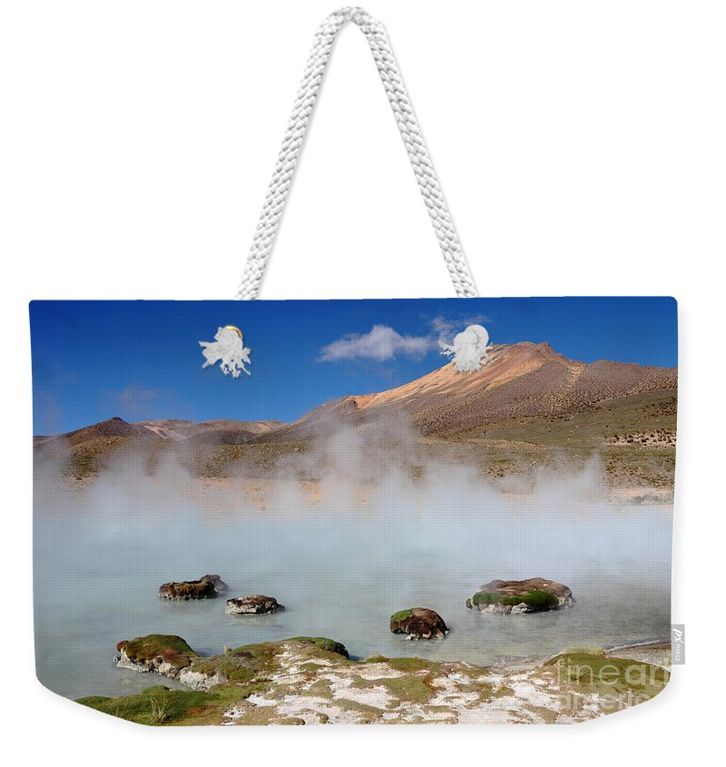 Chile Weekender Tote Bag featuring the photograph Morning Vapours by James Brunker