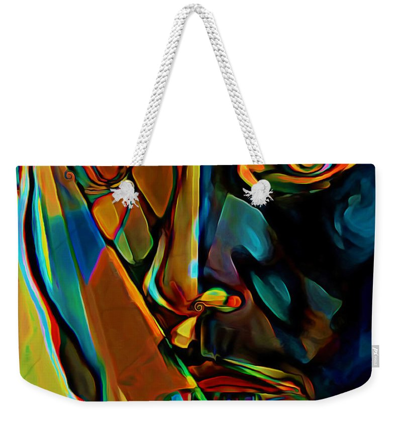 Mosaic Weekender Tote Bag featuring the painting Mosaic by Fli Art