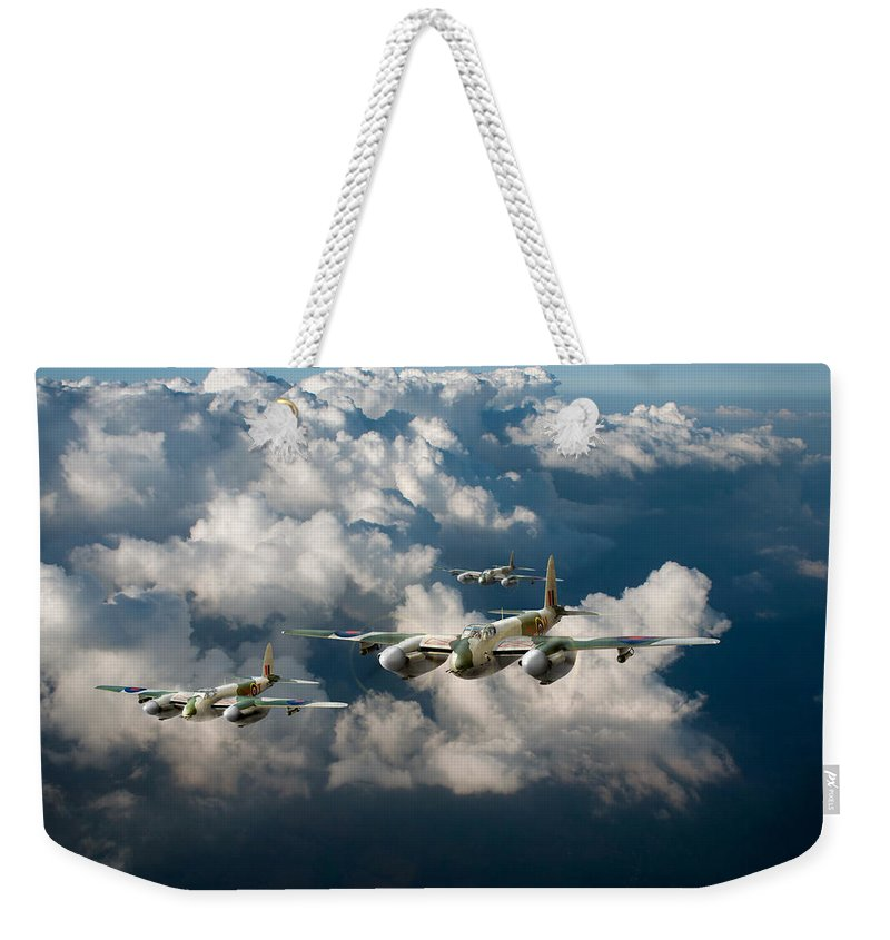 Dh Mosquito Weekender Tote Bag featuring the digital art Mosquitos Above Clouds by Gary Eason