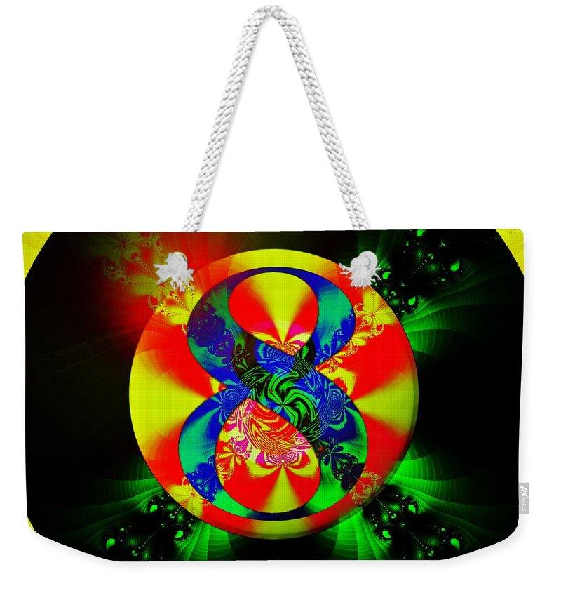 Fractal Art Weekender Tote Bag featuring the digital art Most Likely by Elizabeth McTaggart