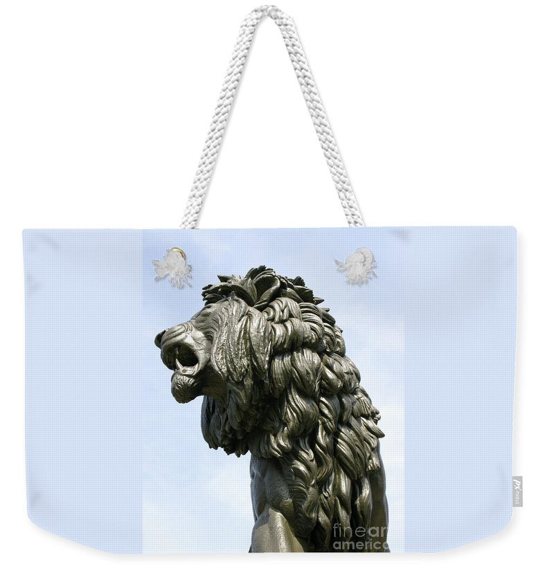 Statue Weekender Tote Bag featuring the photograph Mostly Mane by Ann Horn