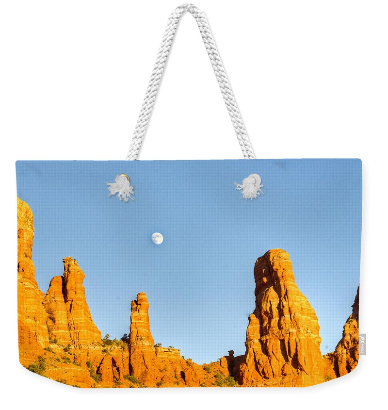 Mother Weekender Tote Bag featuring the photograph Mother And Child And Moon 21 by Douglas Barnett