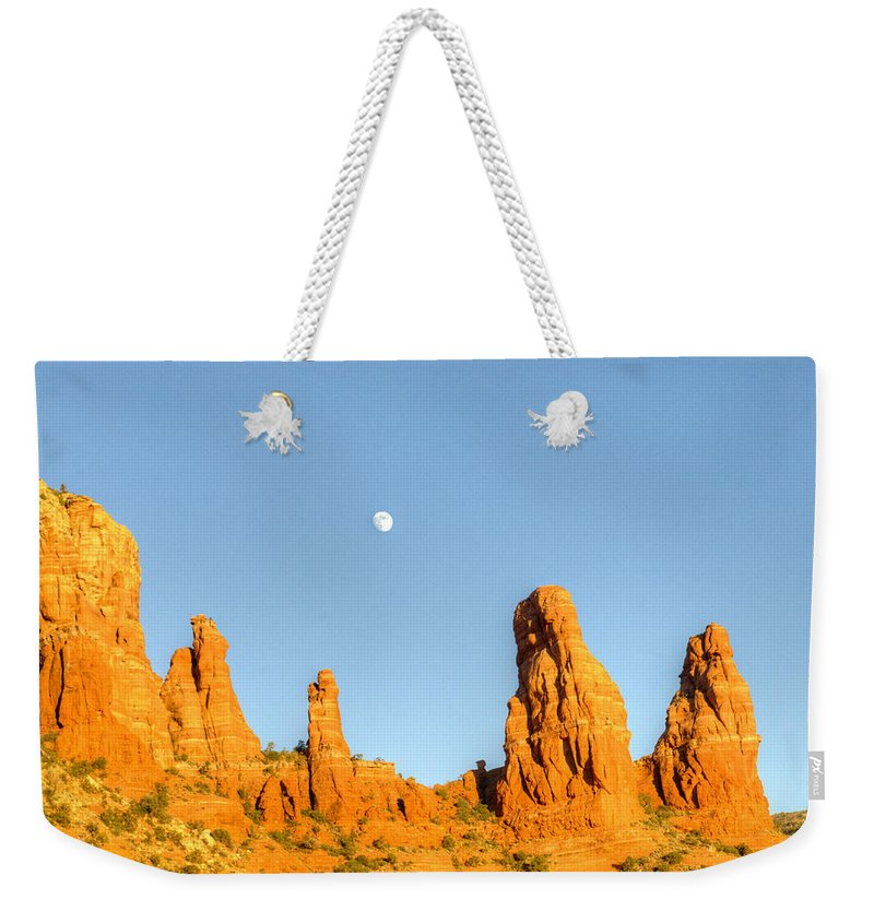 Mother Weekender Tote Bag featuring the photograph Mother And Child And Moon 25 by Douglas Barnett