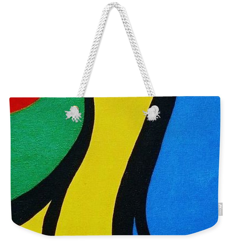 Abstract Weekender Tote Bag featuring the painting Mother and Child by Micah Guenther