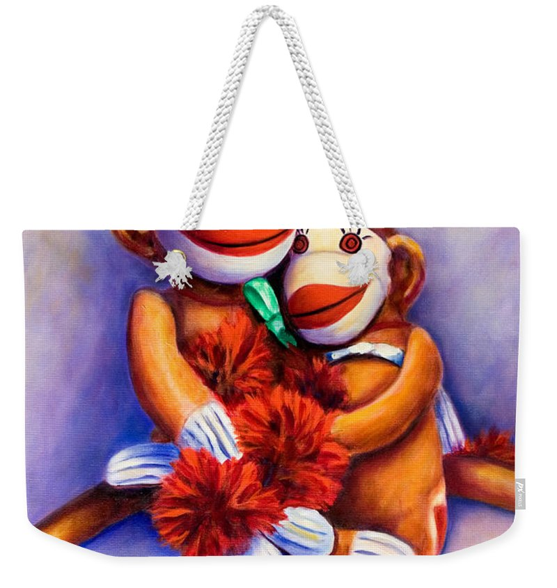 Children Weekender Tote Bag featuring the painting Mother and Child by Shannon Grissom