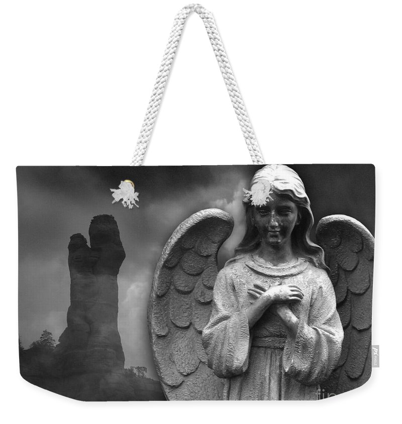 Mary Weekender Tote Bag featuring the photograph Mother And Child by Stacey May