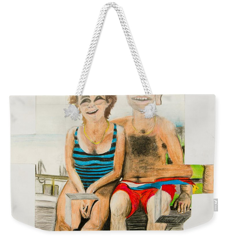 Mother Weekender Tote Bag featuring the painting Mother And Father by Ryanne Bevenger