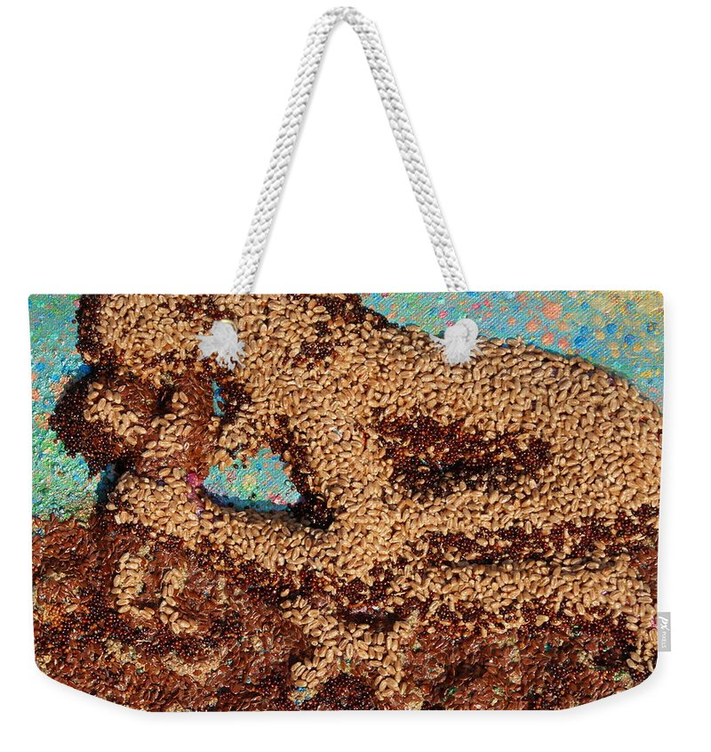 Mother And Child Weekender Tote Bag featuring the mixed media Mother Earth IV by Naomi Gerrard