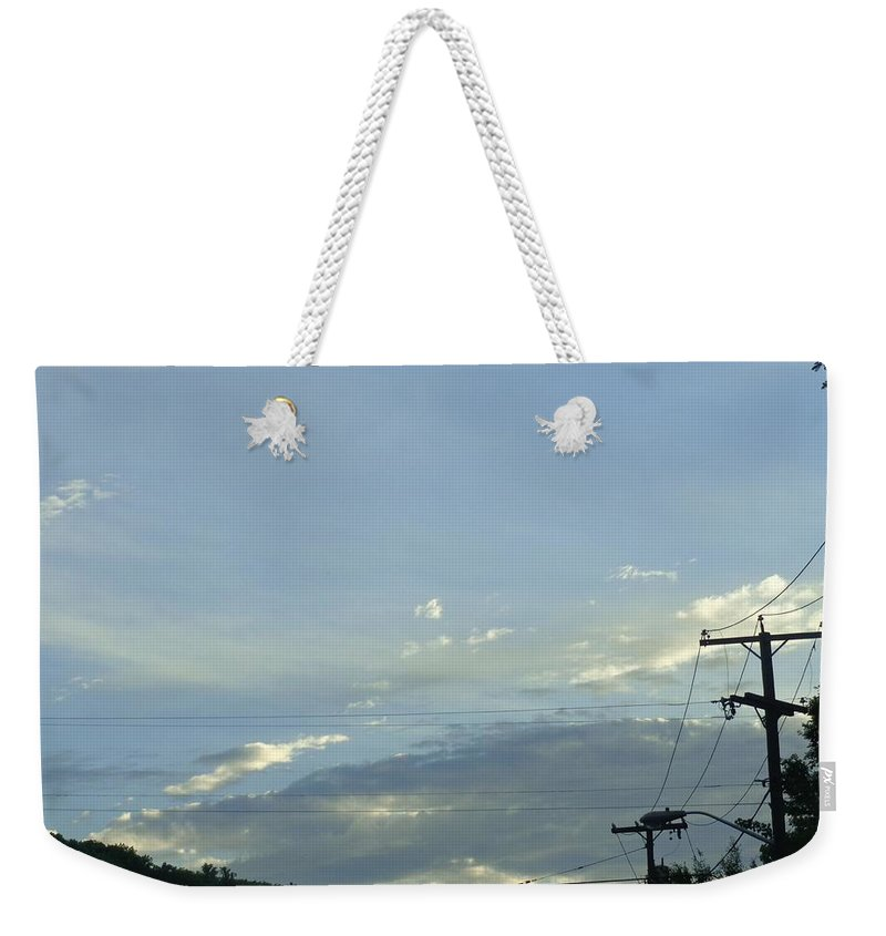 Clouds Weekender Tote Bag featuring the photograph Mother Nature's Painting by Jannice Walker
