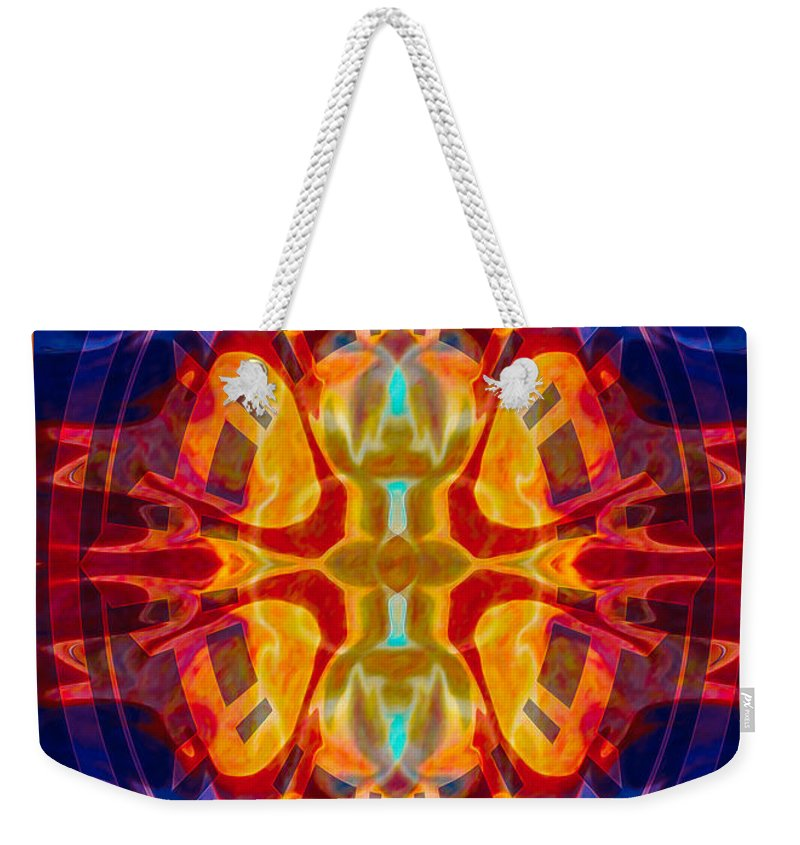 5x7 Weekender Tote Bag featuring the digital art Mother Of Eternity Abstract Living Artwork by Omaste Witkowski
