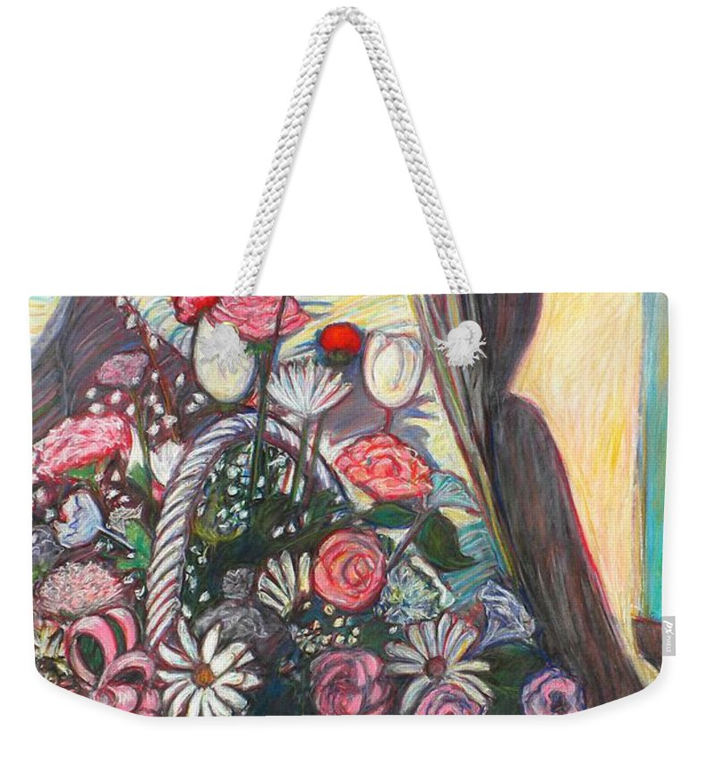 Still Life Weekender Tote Bag featuring the pastel Mothers Day Gift by Kendall Kessler