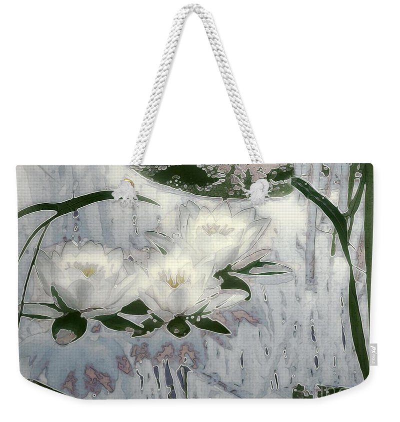 Asian Weekender Tote Bag featuring the painting Motif Japonica No. 1 by RC DeWinter