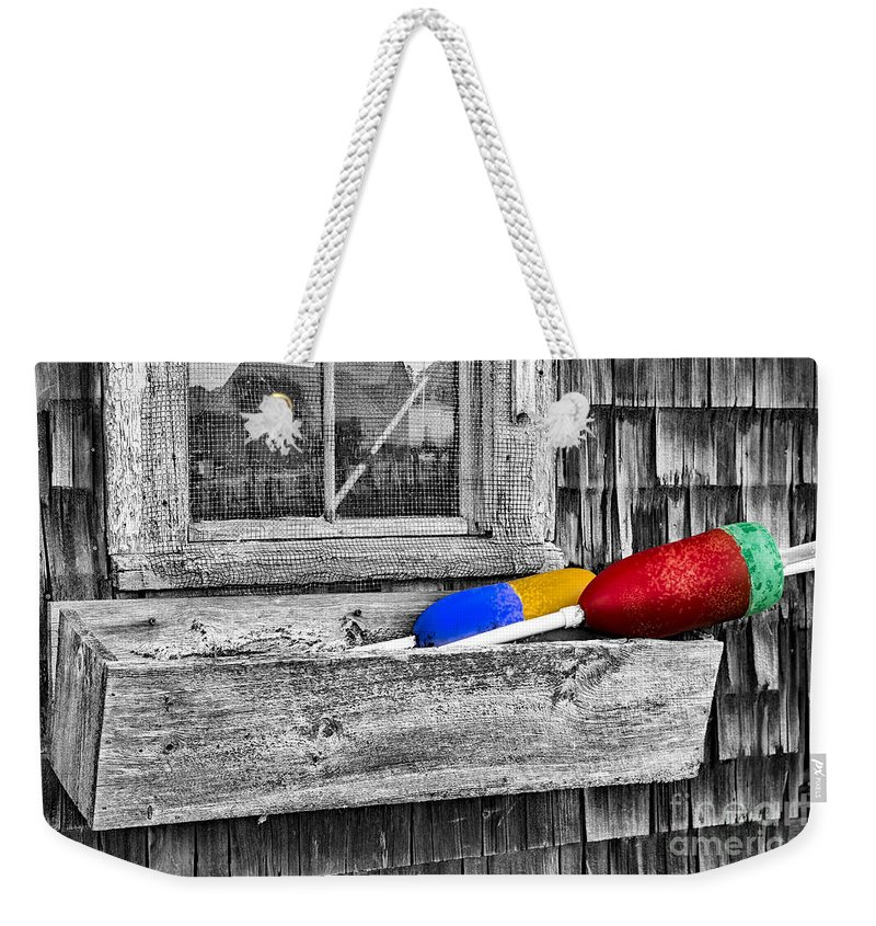 Motif No.1 Weekender Tote Bag featuring the photograph Motif Number One Sunrise Reflections Bw by Susan Candelario