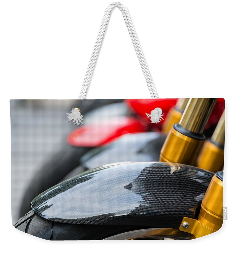 Motorcycle Weekender Tote Bag featuring the photograph Motorbikes by Dutourdumonde Photography