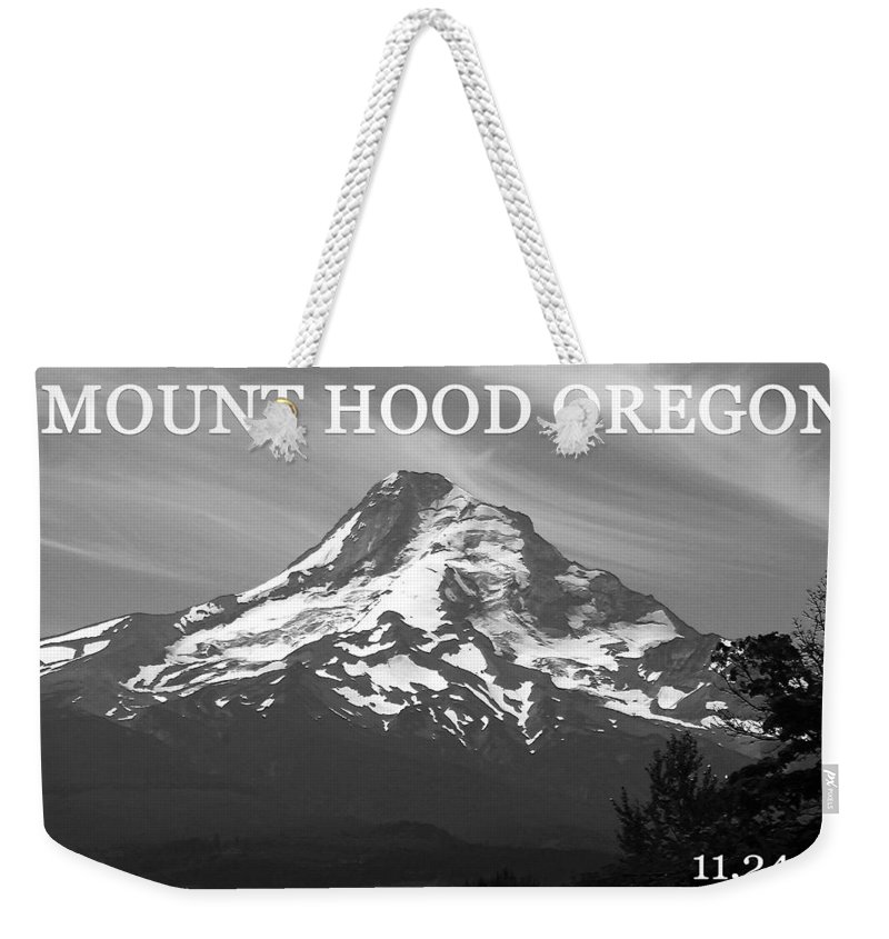 Mount Hood Oregon Weekender Tote Bag featuring the photograph Mount Hood Horizontal by David Lee Thompson