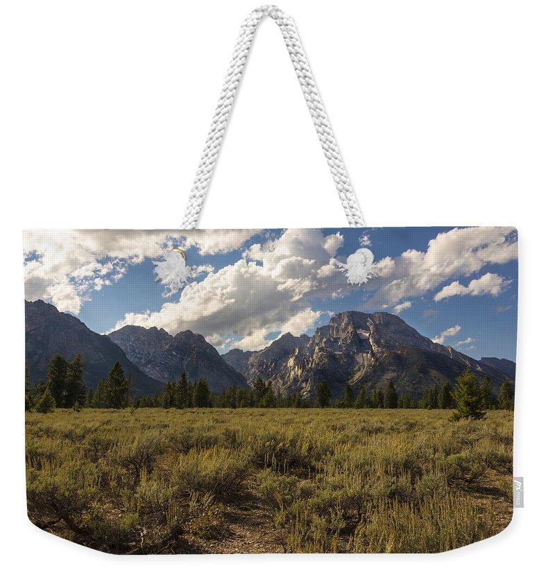 Mount Moran Grand Teton National Park Weekender Tote Bag featuring the photograph Mount Moran - Grand Teton National Park by Brian Harig