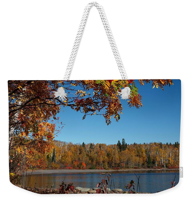 Jim Weekender Tote Bag featuring the photograph Mountain Ash In Autumn by James Peterson