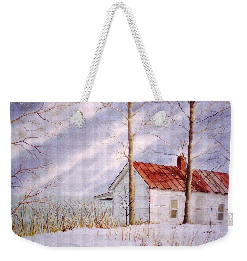 Farm Weekender Tote Bag featuring the painting Mountain Home by Jim Gerkin