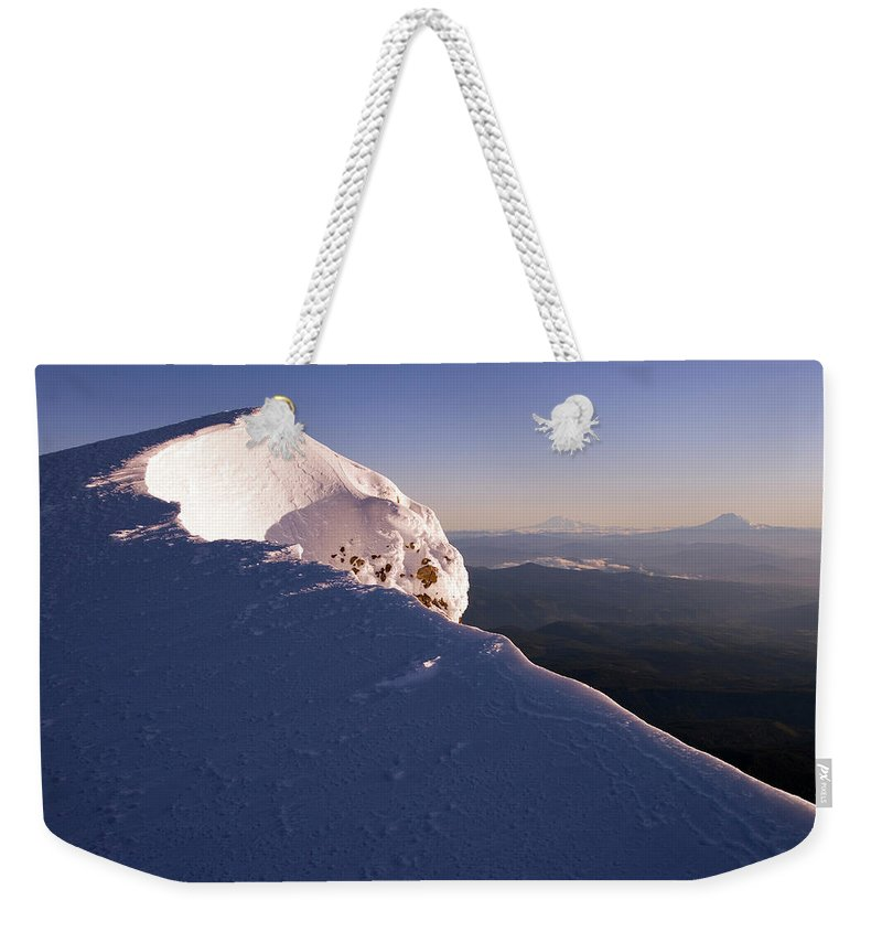 Climber Weekender Tote Bag featuring the photograph Mountain Landscape by Richard Hallman