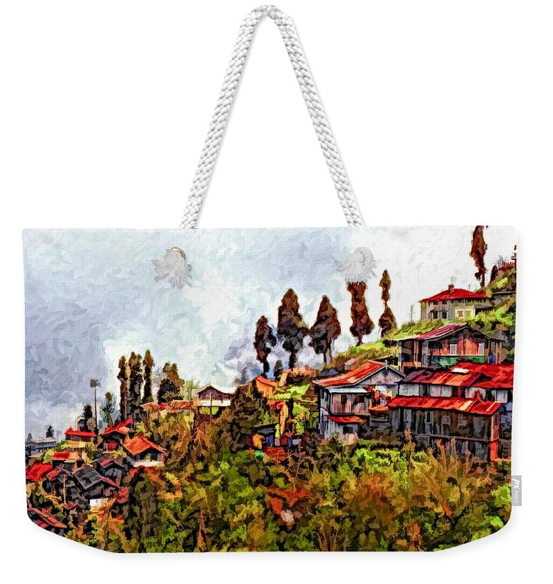 Darjeeling Weekender Tote Bag featuring the photograph Mountain Living by Steve Harrington