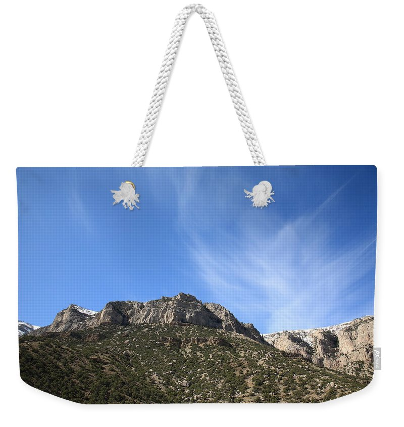 Alpine Weekender Tote Bag featuring the photograph Mountain Range - Wyoming by Frank Romeo