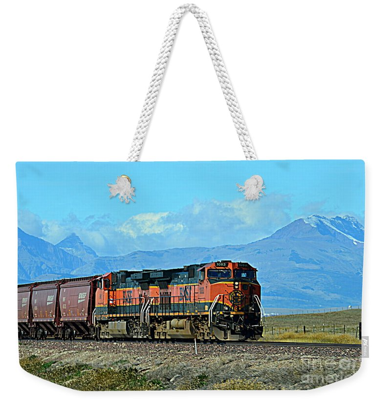 Mountain Weekender Tote Bag featuring the photograph On Mountain Time by Jaunine Roberts