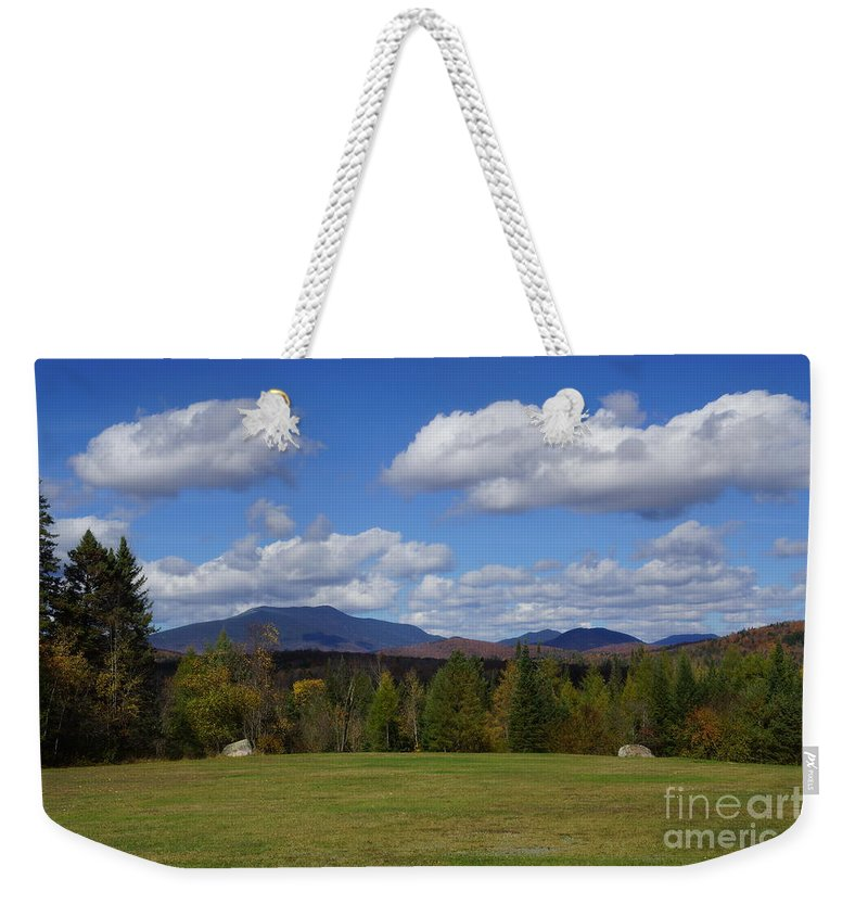 Adirondacks Weekender Tote Bag featuring the photograph Mountain View by Jeffery L Bowers